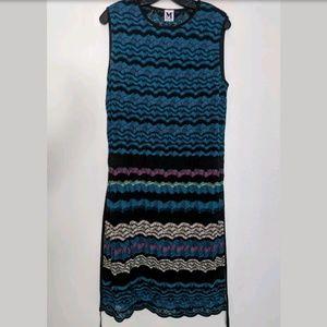M Missoni Crochet Zig Zag Chevron Dress